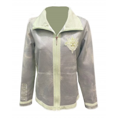 Airfield - SW-156 Sweat Gilet licht groen zilver coating.