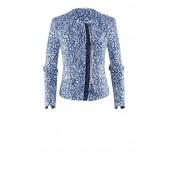 Airfield - Pana-Jacket 72 255 53 226 jeans blauwe leopard print