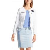 Marccain Sports - LS 31 18 D20 Wit Jeans jasjes met rits