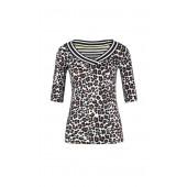 Marccain Sport - LS 4807 J06 - Shirt met luipaardprint