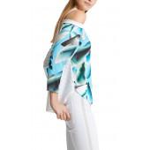 Marccain Sport - LS 5515 W18 - Bloes shirt walvis print
