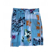 Marccain Sports - ES 7145 W84 - Luchtige rok met turquoise print