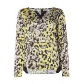 Marccain Sports - FS 51 07 W61 Losse luchtige bloes grijs zwart geel