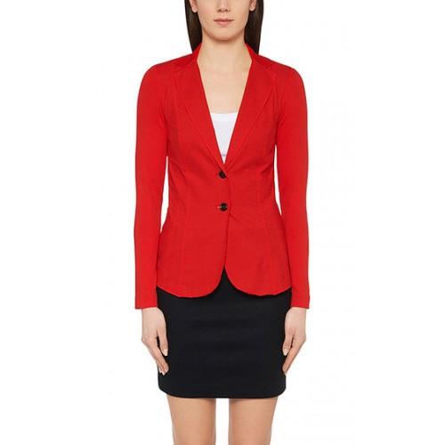 marccain sport - jacket +e 3411j92 col 272 - luchtige rode blazer