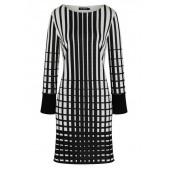 Ana Alcazar - 048136-2982 Kleed lijnen print tlinten van grijs.