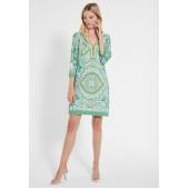 Ana Alcazar - 048363 Luchtig kleed groen gele print