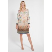 Ana Alcazar - 048375-3049 Kleed stretch beige bloemenprint