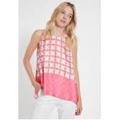 Ana Alcazar - 088328-3038 Luchtige top roze oranje licht blauw