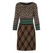 Ana Alcazar - 046653-2616 Kleed combinatie print leopard en ruiten