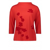 Betty Barclay - Sweater rood met fluwelen pailletten