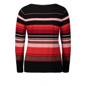 Betty Barclay - T-shirt met strepen roodtinten