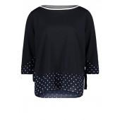 Betty Barclay - 4774 0524 8345 T-shirt blauw witte bolletjes