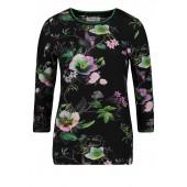 Betty Barclay - 4757 0507 9856 T-shirt zwarte fond bloemenprint