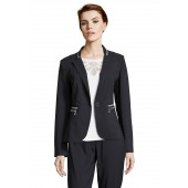 Betty Barclay - 5021 1084 8345 blauwe blazer stretch met ritsen