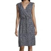 Betty Barclay - 1033 1447 Luchtig stretch kleedje wit blauw