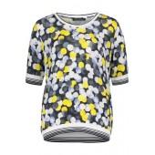 Betty Barclay - 2065 1313 8821 T-shirt met stippen in tinten van wit geel en blauw.