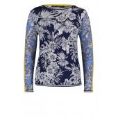 Betty Barclay - 5063 1384 Pull met bloemenprint wit blauw geel