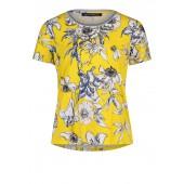 Betty Barclay - 2120 1363 2880 T-shirt geel met wit blauwe bloemen