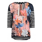 Betty Barclay - 2049 1189 8813 T-shirt bloemenprint met strepen