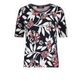 Betty Barclay - 2058 1309 4815 T-shirt bloemenprint wit blauw roze