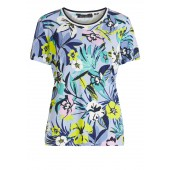 Betty Barclay - 2106 1352 8850 T-Shirt frisse bloemenprint blauw geel