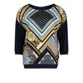Betty Barclay - 2044 1132 8877 T-shirt bloes print blauw geel
