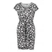 Betty Barclay - 1548 2216 Luchtig kleedje zwart wit print