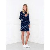 Dry Lake - Love story shirt dress - navy feather