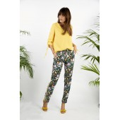 Heart Mind - BA_Poker Losse broek in swan black print