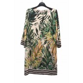 Heart Mind - C_Diva kleed palm print geel