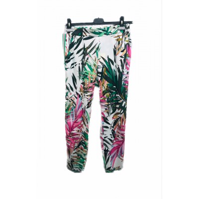 Heart Mind - BA_Poker Losse broek in palm print fuxia