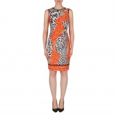 7fd75b3a5d9427 Joseph Ribkoff - 182676 kleed tijgerprint multicolor oranje