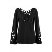 Joseph Ribkoff - top bloes 161996 - zwart met pajetten