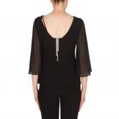 Joseph Ribkoff - 174267 - bloes zwart strass ketting