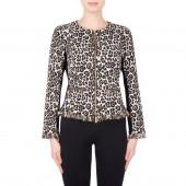 Joseph Ribkoff - 184785 Vest in leopard print met rits