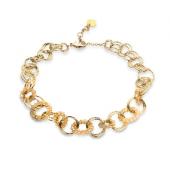 Les Cordes - Dagmar - ketting kort goudkleurig met parels