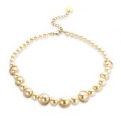 Les Cordes - Dawn - ketting kort perlefine met goud