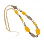 Like Jewellery - 3201- Ketting oker beige