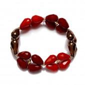 Like Jewellery - A3204 - armband rood bruin