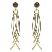 Like Jewellery - O1219 - Goudkleurige oorbel met steen