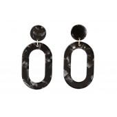 Like Jewellery - o3202 - Oorbel zwart nacré