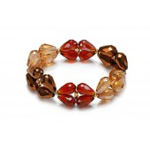 Like Jewellery - A3204 - armband beige bruin
