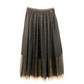 Lucky Lu - Gonna svasata half lange zwarte tule rok.