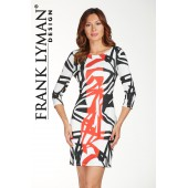 Frank Lyman - 176131 kleed zwart wit rood