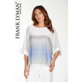 Frank Lyman - 181130 voile bloes blauw grijs wit