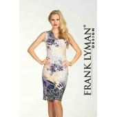 Frank Lyman - 64624 - kleed print beige grijs met pajetten.