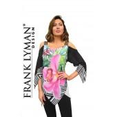 Frank Lyman - 66138 - bloes voile bloemenprint