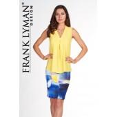 Frank Lyman - rok 66147 - blauw-geel-wit