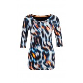 Marccain Sport - Shirt GS48 87 J05 - multicolor oranje-blauw-zwart wit