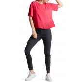 Marccain Sports - MS 55 03 W41 Rode Bloes-shirt met plisse band
